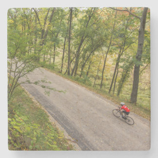 Road Cycling On Rural Country Road Stone Coaster