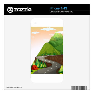 Road Decals For iPhone 4