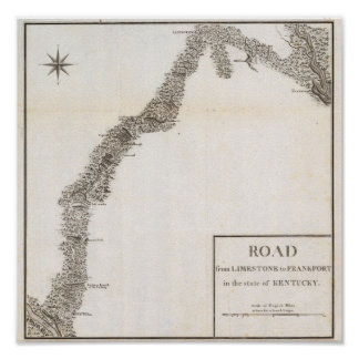 Road from Limestone to Frankfort Poster