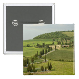 Road from Pienza to Montepulciano, 2 Inch Square Button