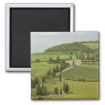 Road from Pienza to Montepulciano, 2 Inch Square Magnet