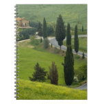 Road from Pienza to Montepulciano, 2 Spiral Notebook