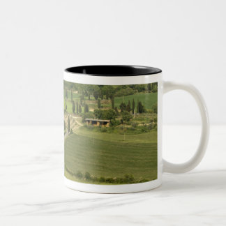Road from Pienza to Montepulciano, Two-Tone Coffee Mug