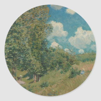 Road from Versailles to Saint-Germain by A. Sisley Classic Round Sticker
