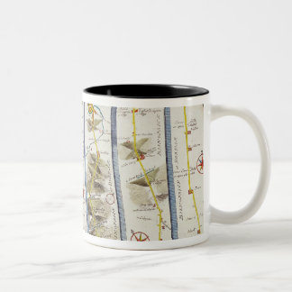 Road from Whitby to Durham Two-Tone Coffee Mug