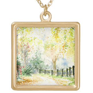 Road Gold Plated Necklace