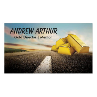 Road Gold Stacks Business Card