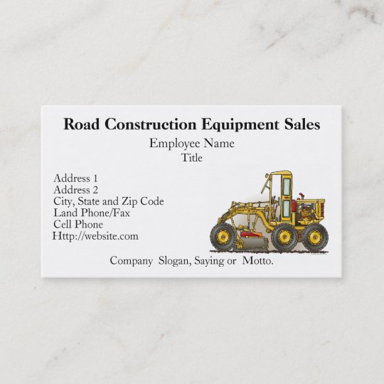 Road grader construction business cards zazzle road grader construction business cards colourmoves