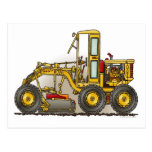 Road Grader Construction Post card