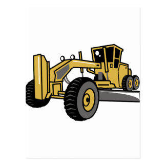 Road Grader Larger Postcard