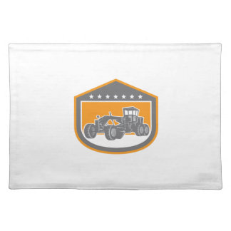 Road Grader Shield Retro Placemat