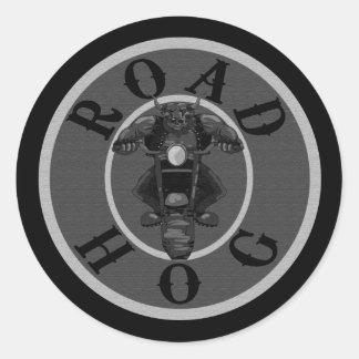 Road Hog in Grey Classic Round Sticker
