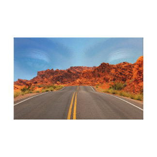 Road in nowhere or in the everything canvas print
