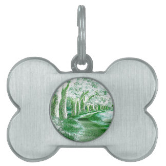 """""""road in the countryside"""" pet tags"""