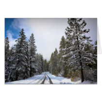 ROAD IN THE SNOW CARD