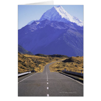 Road into Mount Cook National Park, New Zealand Card