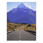 Road into Mount Cook National Park, New Zealand Postcards