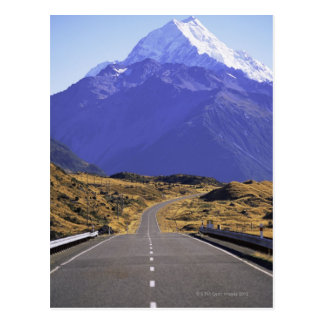 Road into Mount Cook National Park, New Zealand Postcard