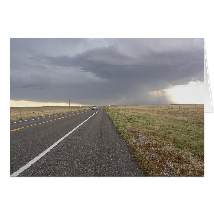 Road Into The Storm Card