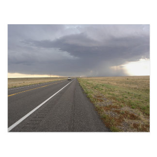 Road Into The Storm Postcard