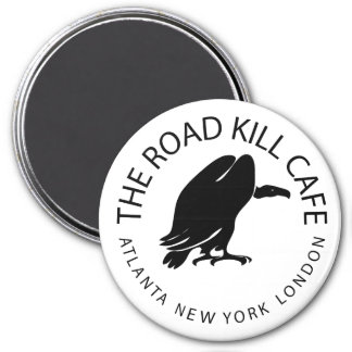 ROAD KILL CAFE 3 INCH ROUND MAGNET