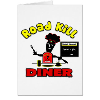 Road Kill Diner Business Blank Card