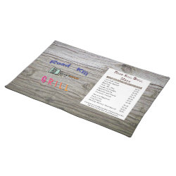 Road Kill Grill Placemat