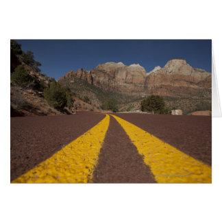 Road-kill viewpoint greeting card