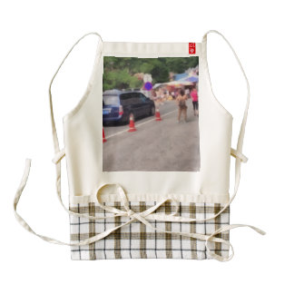 Road leading to the mountains zazzle HEART apron