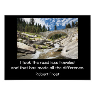 Road less traveled - art print