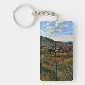 Road Less Traveled Desert Landscape Keychain