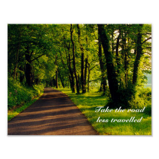 road less travelled posters