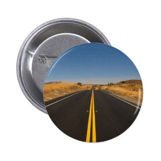 Road - Long Highway 2 Inch Round Button