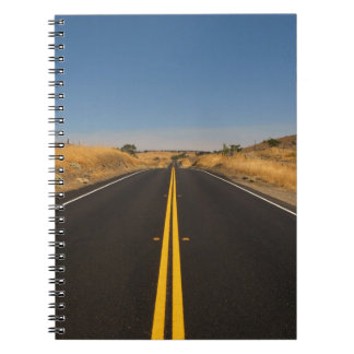 Road - Long Highway Spiral Notebook