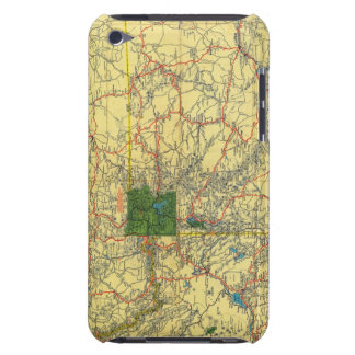 Road map Idaho, Mont, Wyo map Barely There iPod Case