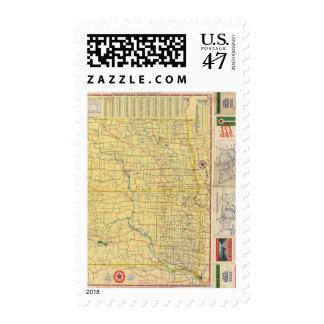Road map N & S Dakota Postage
