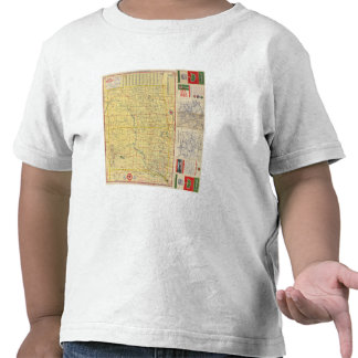 Road map N & S Dakota Tee Shirts