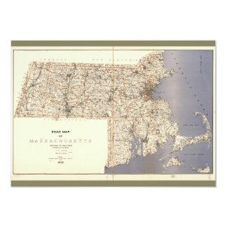 Road Map of Massachusetts (1922) Card