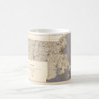 Road Map of Massachusetts (1922) Coffee Mug