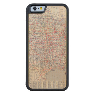 Road map United States Carved® Maple iPhone 6 Bumper