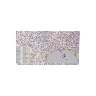 Road map United States Checkbook Cover