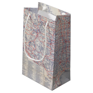 Road map United States Small Gift Bag
