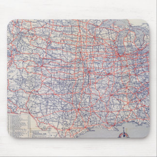 Road map United States Mouse Pad