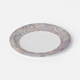 Road map United States Paper Plate