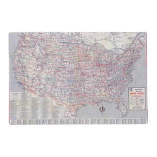 Road map United States Placemat