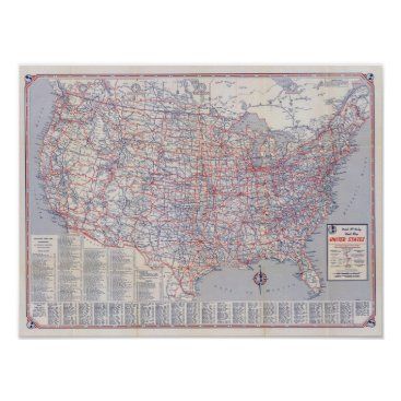 davidrumsey Road map United States Poster