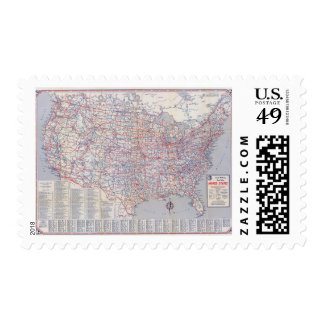 Road map United States Stamp