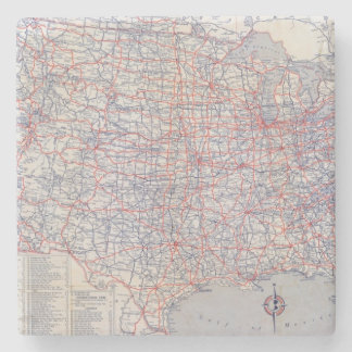 Road map United States Stone Coaster