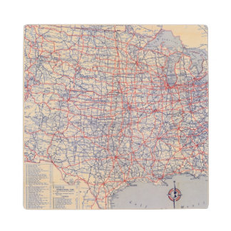 Road map United States Wood Coaster