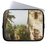 Road mirror in front of a building, San Laptop Sleeves